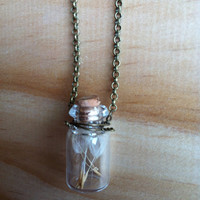 "Dandelion ""Wish"" in a Bottle Necklace"