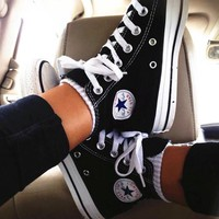 """""""Converse"""" Fashion Canvas Flats Sneakers Sport Shoes High tops"""