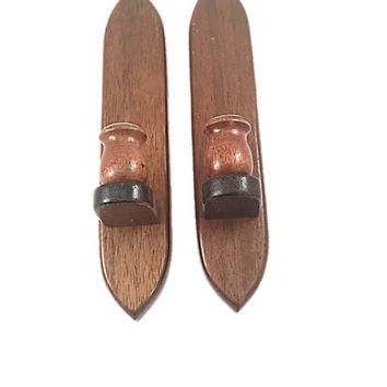 Vintage Candle Sconces |  Home Decor Pair of Wall Wood Hanging Candlesticks Holders |  Rustic Decorative |  Vintage Home Decor