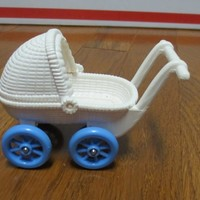 Vintage Fisher Price Dream Doll House Baby Carriage Buggy Toy