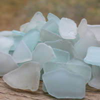 Sea Glass Bulk Beach Glass Bulk White - Very Light Blue