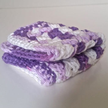 Dish Cloths, Mother's Day Gifts, Cotton Dish Towels, Crocheted Cotton Dish Cloths, Cotton Dish Scrubbers, Gifts for Mother's Day
