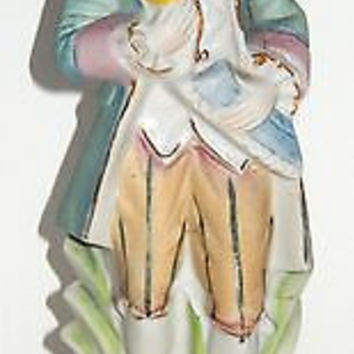 Colonial Man Bisque Porcelain Occupied Japan Figurine Victorian 9 1/2in Flawless