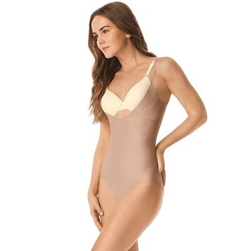 Warner's No Side Effects Open-Bust Body Briefer WA1141 - Women's