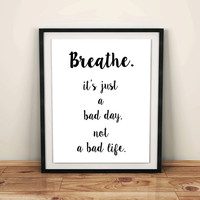 Relax Poster breathe sign printable Meditation quote Meditation print Meditation decor Meditation poster relax sign breathe zitat quotes art