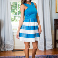 Clearly Crossed Dress, Blue