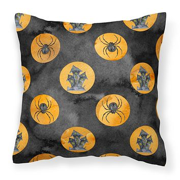 Watecolor Halloween Circles Fabric Decorative Pillow BB7529PW1818