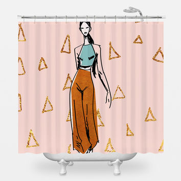 The Gold Boss Shower Curtain