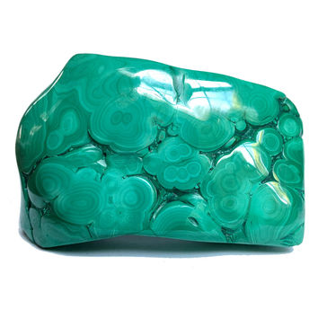 Malachite Mineral 28 Green Botryoidal Stone (3.3 Inches)