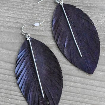 Leather Feather Drops