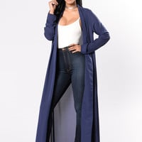 Succession Duster Jacket - Navy