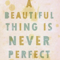 $20.00 Affordable Typography Art Poster A Beautiful Thing  by LisaBarbero