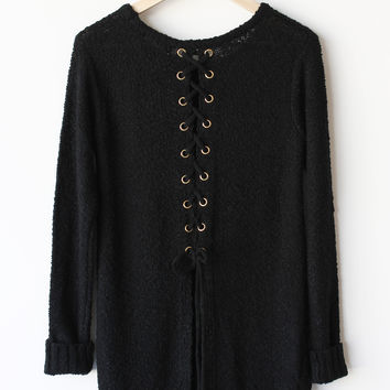 Ali Split Back Sweater