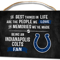 "Indianapolis Colts ""Best Things"" Wall Art"