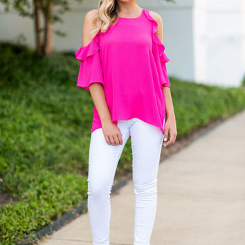 Sunny Day Top, Hot Pink