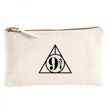 Hogwarts Express platform 9 3/4 Canvas cosmetic zip purse pencil pen bag holder | eBay