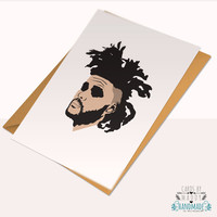 The weeknd drake xo Typography Love Card Stock weeknd Happy Birthday Anniversary Card
