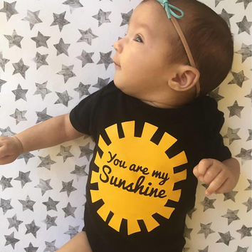 You are my sunshine, sunshine baby, you make me happy, lullaby baby shirt, sunshine love, pregnancy announncement, rainbow baby, happy shirt