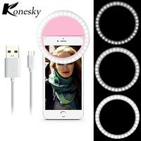 Selfie Ring Light Portable Flash 36 LED Camera Phone Photography USB Light Enhancing Photography for All Smartphones 6 plus 6s