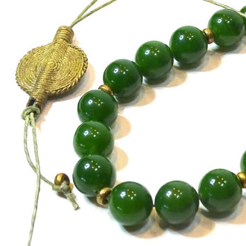 Deep green Jade Komboloi, Greek worry beads, Turkish worry beads, meditation, yoga, prayer beads, Jade,mala, wrist mala