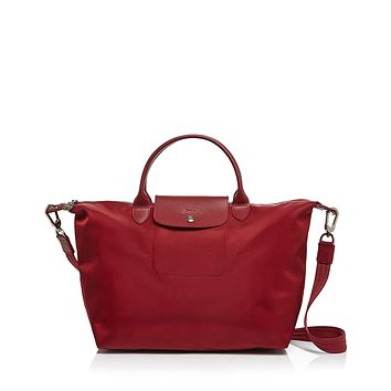Longchamp Le Pliage Neo Medium Tote With Strap Ruby Red