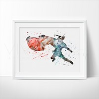Thor 2 Watercolor Art Print