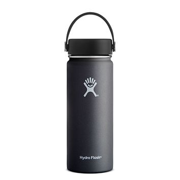 18 oz. Wide Mouth Hydro Flask - Black