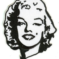 Marilyn Monroe Iron-On Patch Face
