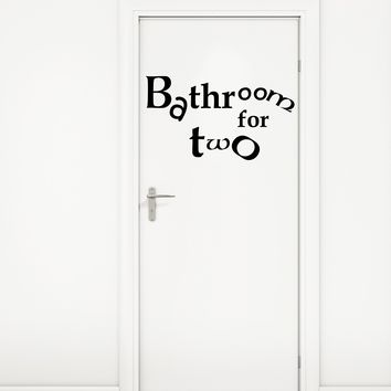 Vinyl Door Decor Bathroom Quote Words Phrase Restroom Decor Art Stickers Mural (m760)
