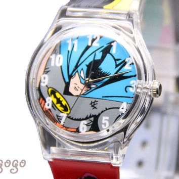 1pcs Kids watch Transparent boy girl batman