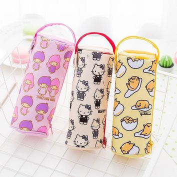 1X Kawaii Kitty Melody Twin Star Sumikko Gurashi Gudetama Pen Pencil Case School Office Supply Student Stationery Kids Gift