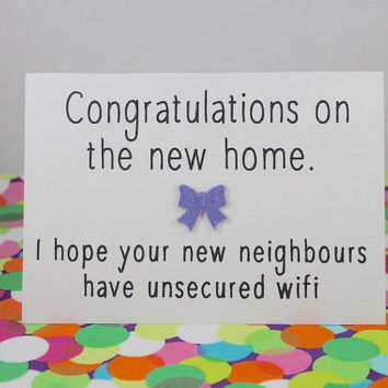 Shop Congratulations On New Home Card On Wanelo