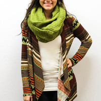 MACA Clothe · Tribal Cardigan in Orange
