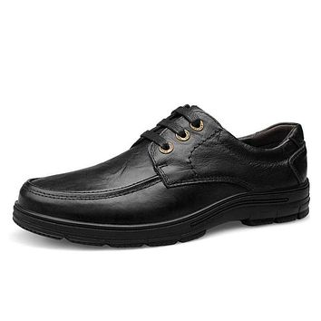 Fashion Mens Casual Shoes Genuine Leather Loafers Moccasins Men Flats High Quality Inside Fur&Leather Dress Shoes