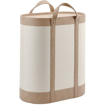 Blix Round Hamper Laundry Organizer Basket With Carry Handles and Removable Lid