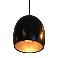 Ceramic Black & Brass Clay Pendant Light