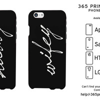 Hubby and Wifey Black Phone Case for iPhone, Galaxy S, One M8, G3