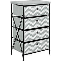 Altra Storage System 4 Bins 31 H x 18 W x 13 D Chevron by Office Depot & OfficeMax