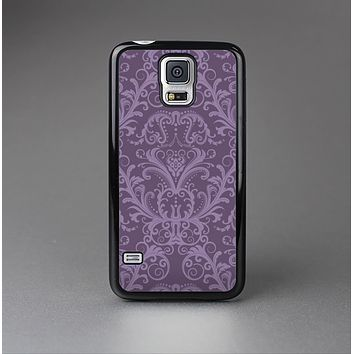 The Dark Purple Delicate Pattern Skin-Sert Case for the Samsung Galaxy S5