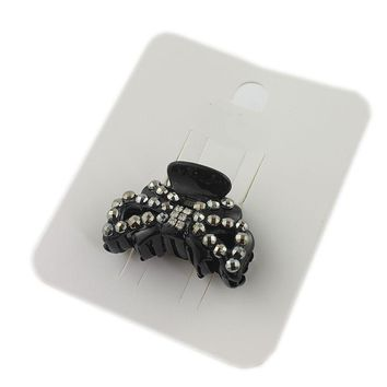 Shiny Gem Hollow Hair Clip Black Butterfly Clips New Hair Accessories Female Flower Value Headdress Full Diamond Jewelry JJ