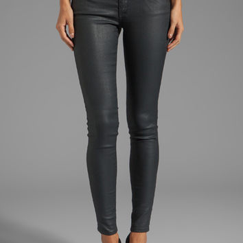 AG Adriano Goldschmied The Absolute Coated Legging in Blackslick