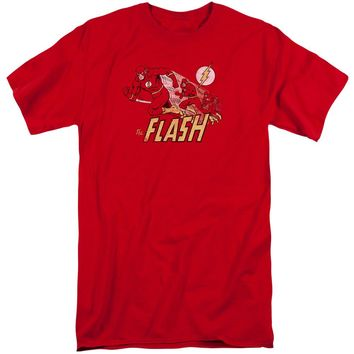 Dc - Crimson Comet Short Sleeve Adult Tall Shirt Officially Licensed T-Shirt