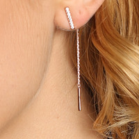 Pavé Bar Two-Piece Earring