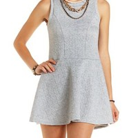 Quilted Sleeveless Skater Dress by Charlotte Russe