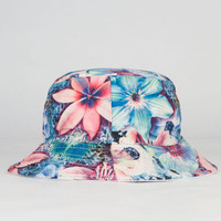 Floral Reversible Bucket Hat White One Size For Women 23465815001