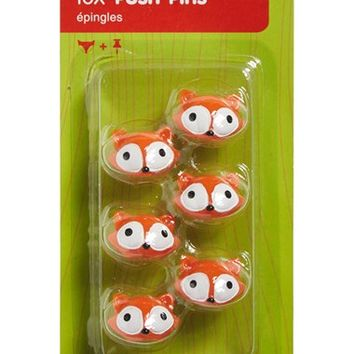 DCI Fox Push Pins - Orange (Set of 6)