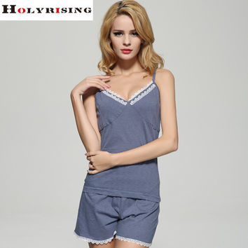 2016 girls Sleepwears women cotton pajamas V-Neck Sleeveless Pajamas Nightgowns cute pajamas sleepwear  Casual Nightwear