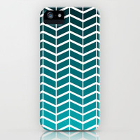 Chevron Ombre iPhone Case by PrintableWisdom | Society6