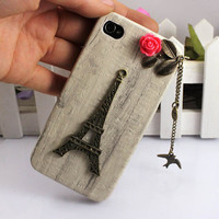 Eiffel Tower & bird Iphone Case iPhone 4 Case