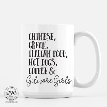 Food and Gilmore Girls - Mug